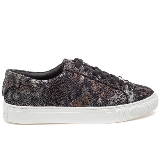 LACEE Black Metallic Multi Embossed Leather
