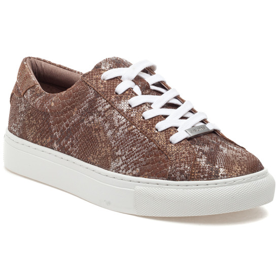 LACEE Chestnut Metallic Multi Embossed Leather
