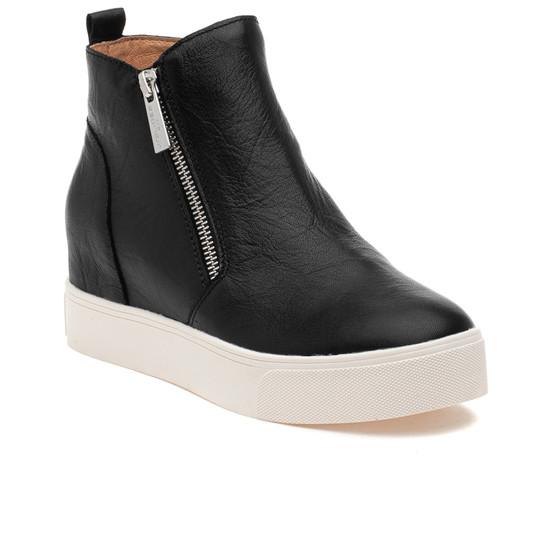 SKY Black Distressed Leather