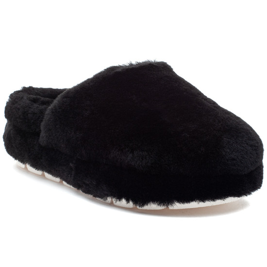 SLEEK Black Shearling
