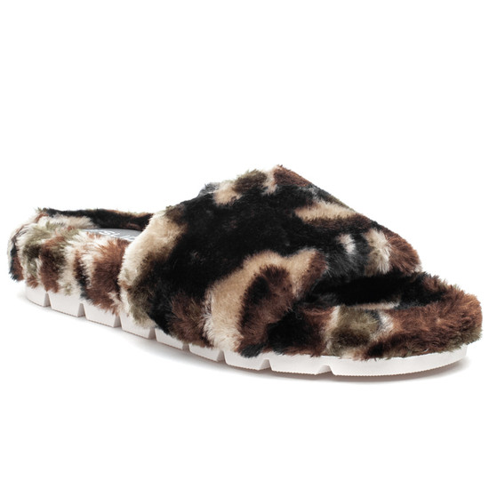LOVLIE Green Camo Faux Fur