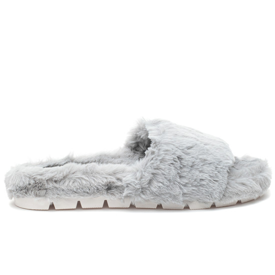 LOVLIE Light Grey Faux Fur