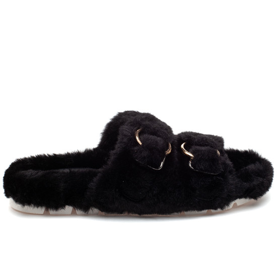 BABEE Black Faux Fur