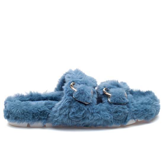 BABEE Blue Faux Fur