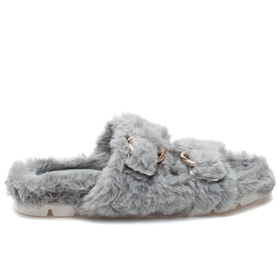 BABEE Light Grey Faux Fur