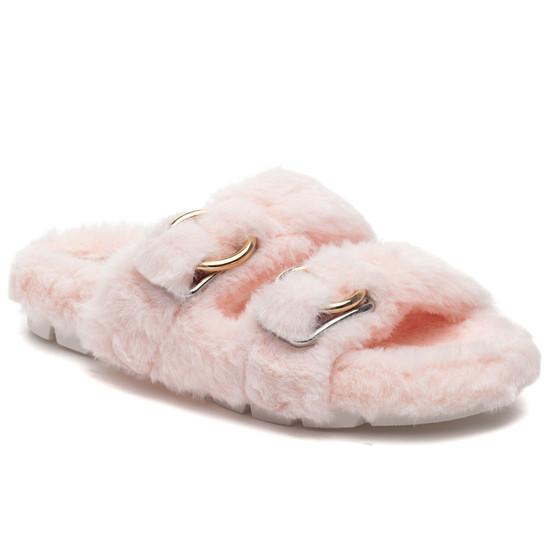 BABEE Light Pink Faux Fur