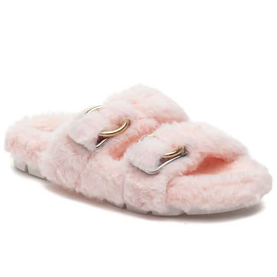 BABEE Light Pink Faux Fur