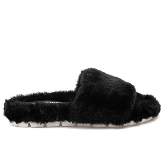 LELEE Black Faux Fur