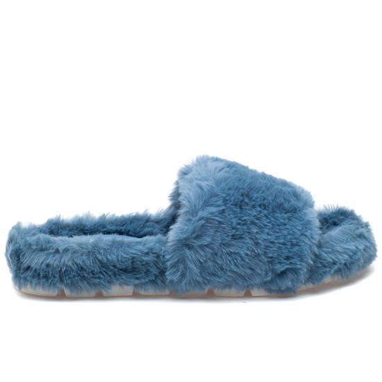 LELEE Blue Faux Fur