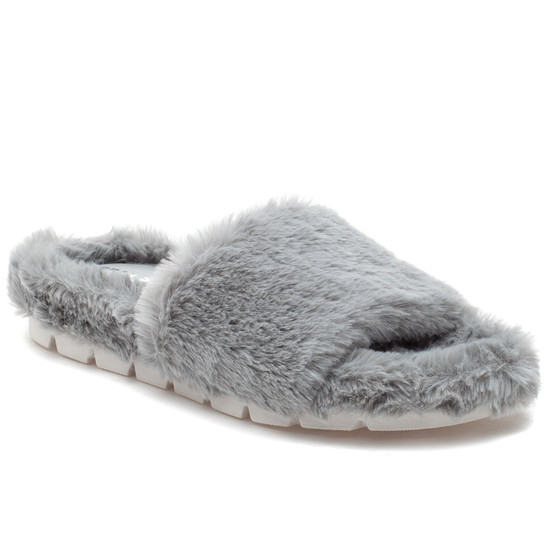 LELEE Light Grey Faux Fur