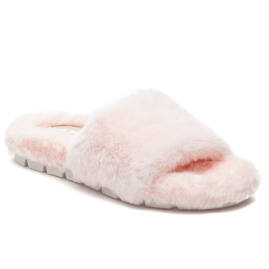 LELEE Light Pink Faux Fur