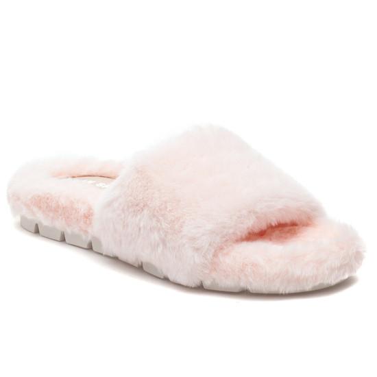 LELEE Light Pink Faux Fur