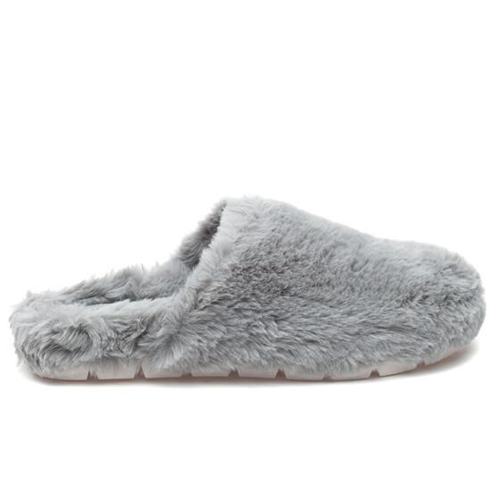 SCARLETT Light Grey Faux Fur