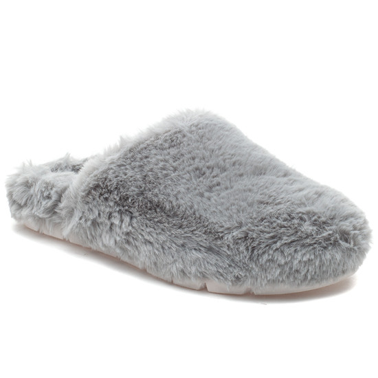 SCARLETT Light Grey Faux Fur