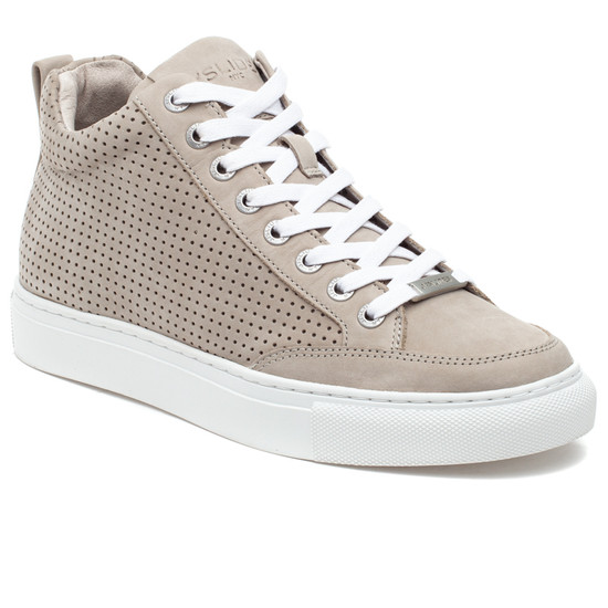 LUDLOW PERF Light Grey Nubuck