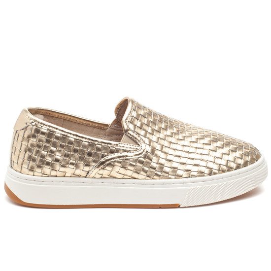 JUSTINE Light Gold Metallic Leather