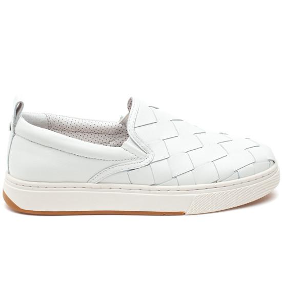 JUNIOR White Leather