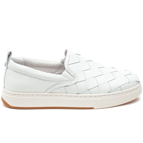 JUNIOR White Leather