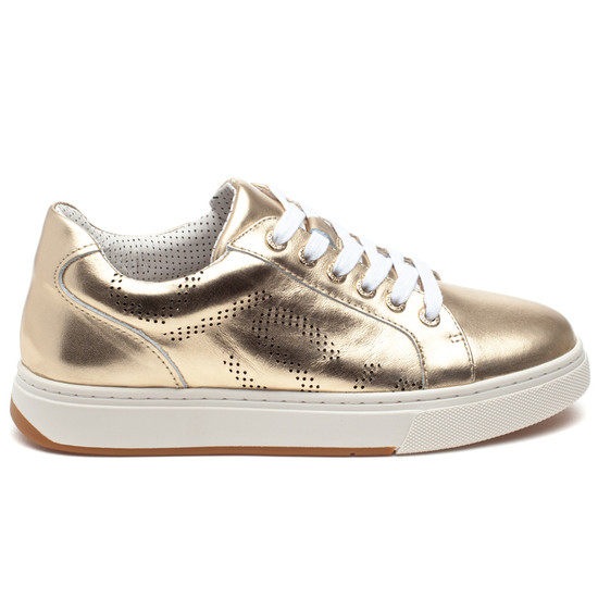 JERMAINE Gold Metallic Leather