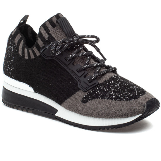 MADELINE Black/Grey Knit