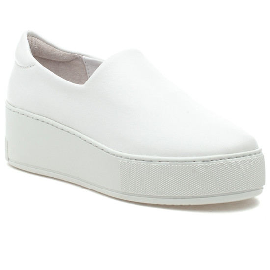 MERRIE White Stretch Leather