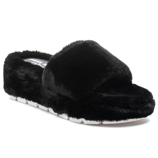 WILLOW Black Faux Fur