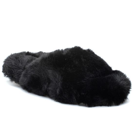 CHARLI Black Faux Fur