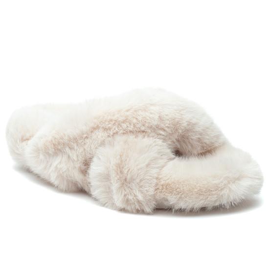 CHARLI Off White Faux Fur