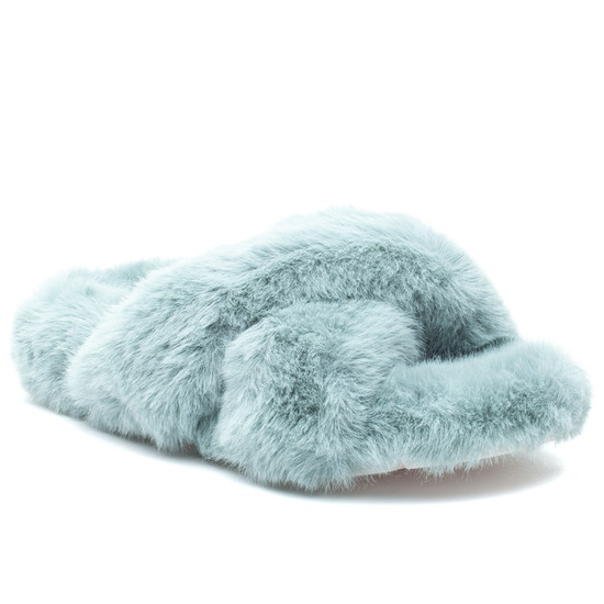 CHARLI Turquoise Faux Fur