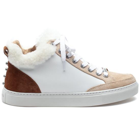 LESLIE White Multi Leather
