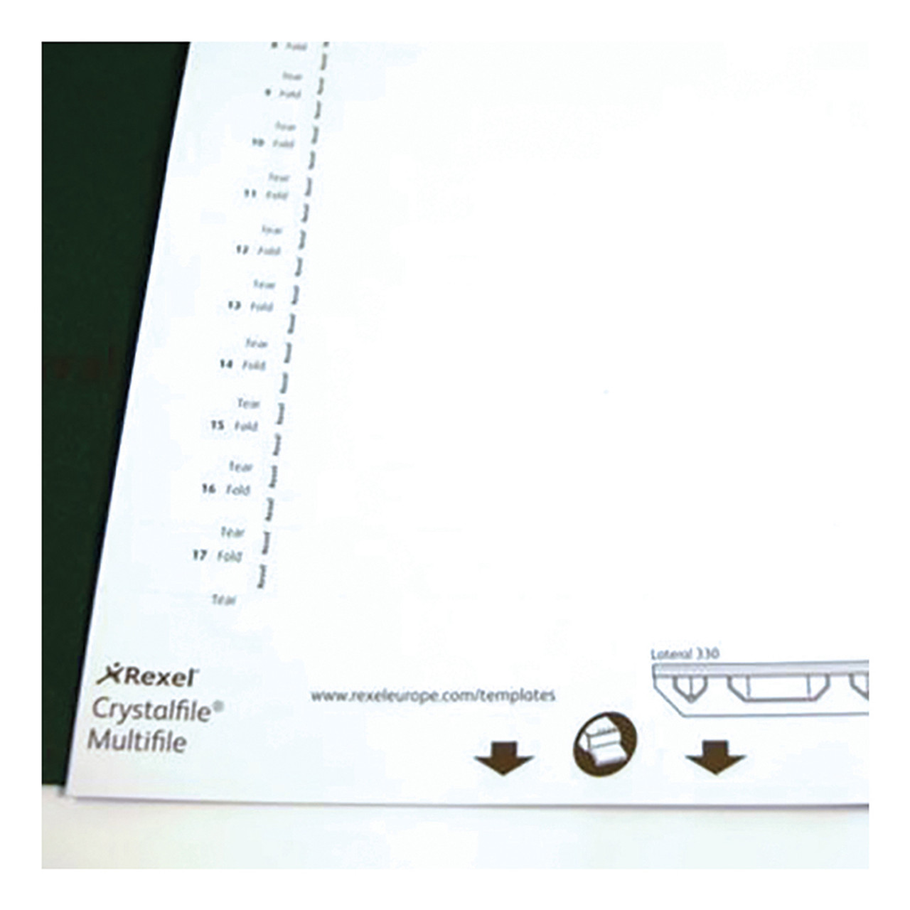 Rexel Crystalfile Inserts Card for Lateral 330 File Tabs White 70676 Pack of 34