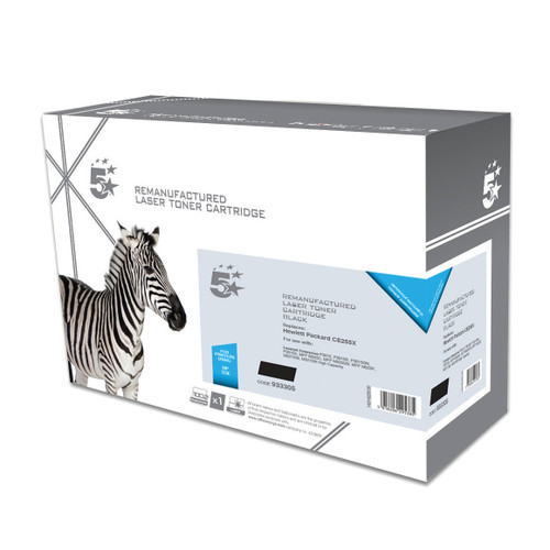 Business Remanufactured Laser Toner Cartridge HY Page Life 12500pp Black [HP 55X CE255X Alternative]