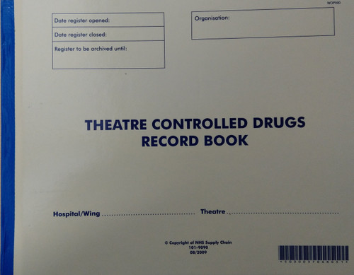 Theatre Controlled Drugs Record Book