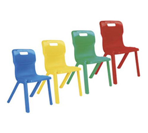 Titan One Piece School Chair Size 3 Ages 5-7 Green