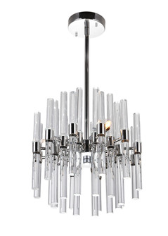 3 Light Mini Chandelier with Polished Nickel Finish (3691|1137P10-3-613)