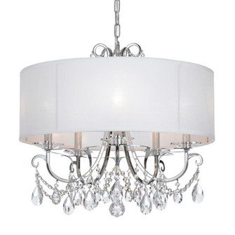 Othello 5 Light Clear Crystal Polished Chrome Chandelier (205|6625-CH-CL-MWP)