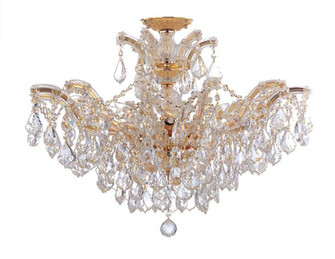 Maria Theresa 6 Light Clear Crystal Gold Semi Flush (205 4439-GD-CL-MWP_CEILING)