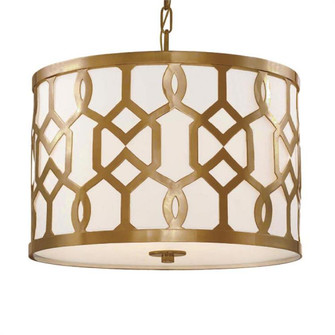 Libby Langdon for Crystorama Jennings 3 Light Aged Brass Chandelier (205|2265-AG)