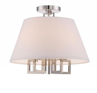 Libby Langdon for Crystorama Westwood 5 Light Polished Nickel Ceiling Mount (205 2255-PN_CEILING)
