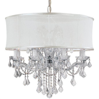 Brentwood 12 Light Smooth Shade Chrome Chandelier (205|4489-CH-SMW-CLQ)