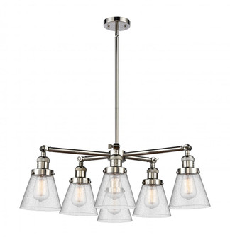 Small Cone 6 Light Chandelier (3442 207-6CR-PN-G64)
