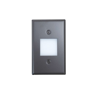 Mini LED Step Light w/ Frosted Glass Lens Face Plate, 1W, 90+ CRI, 3000K, Bronze, 120 (104|NSW-6629BZ)