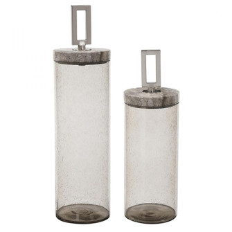 Uttermost Carmen Seeded Glass Containers, S/2 (85 17870)