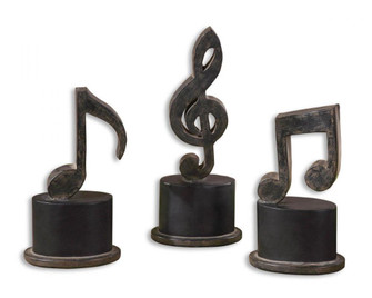 Uttermost Music Notes Metal Figurines, Set/3 (85|19280)