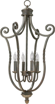 Four Light Toasted Sienna Open Frame Foyer Hall Fixture (83|6878-4-44)
