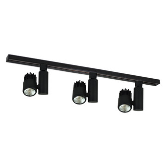 4-ft Track Pack with (3) Aiden 1150lm LED 80+ CRI 3000K Track Heads, Black (104|NTLE-84530B)