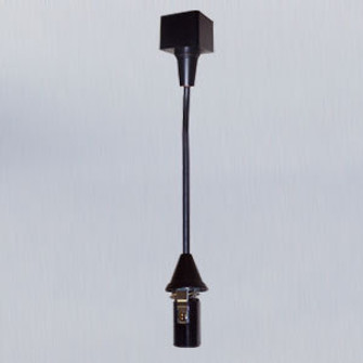 Track Mounted Line Voltage Pendant Cord, 8'-6'' length, Candelabra Base, 60W Max, Blac (104|NTH-160B)