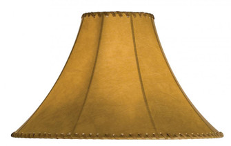 18'' Wide Faux Leather Tan Hexagon Shade (96|26352)