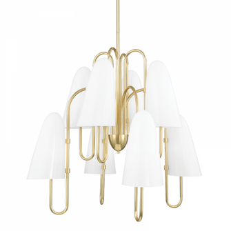 8 LIGHT CHANDELIER (57|7178-AGB)