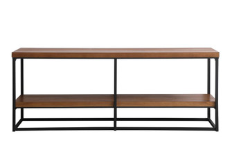 80 inch industrial tv stand in walnut (758 AF110380WT)